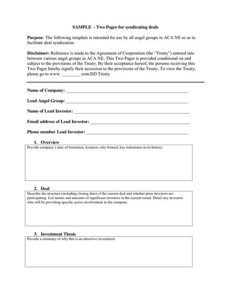 deal memo template sle deal memo in word and pdf formats