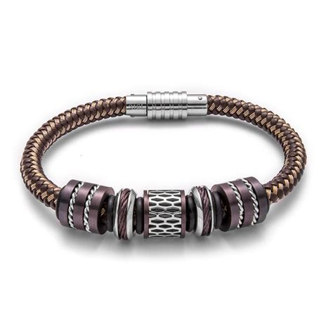 statement brown bracelet landing company