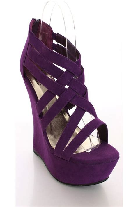 Fashion Wedges Shoes 1518 Aa purple wedge shoes shoes fashion trends