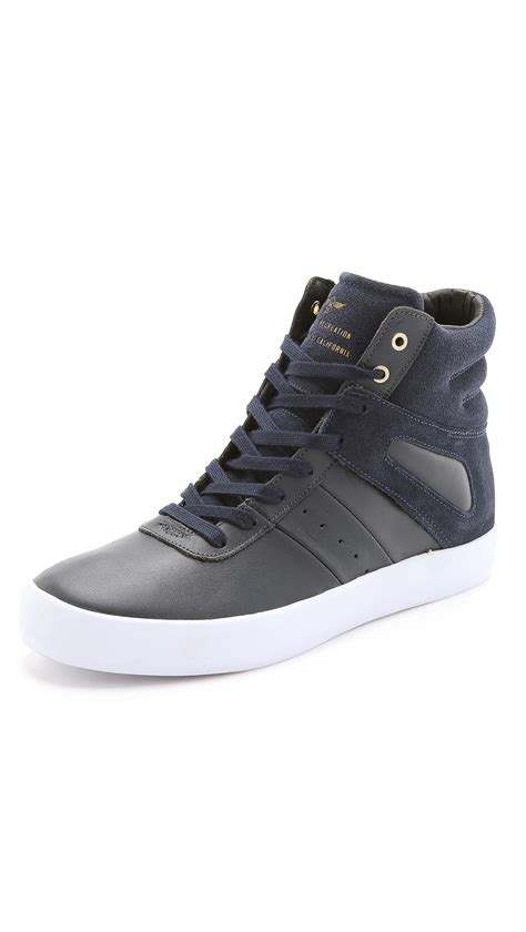 creative sneakers creative recreation high top sneakers in blue for