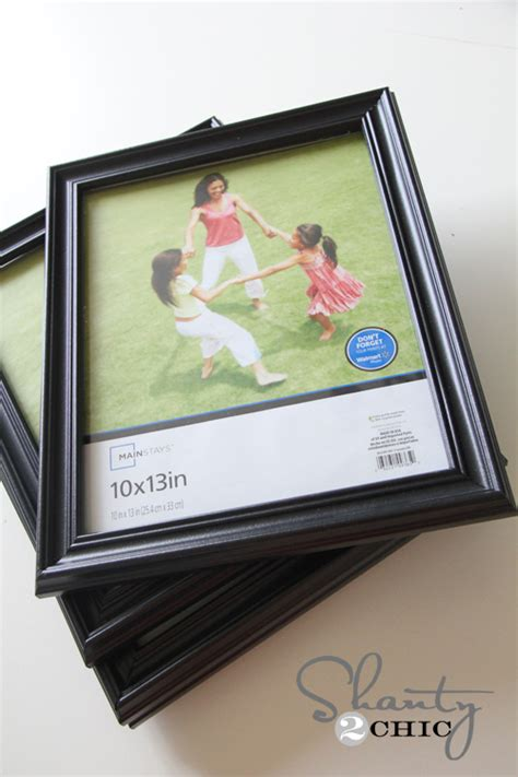cheap frames for art diy wall art gallery frames shanty 2 chic