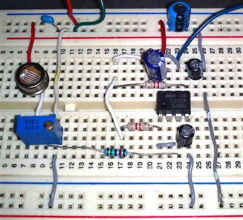breadboard circuit lab building a digital light meter with a calibrated ldr embedded lab