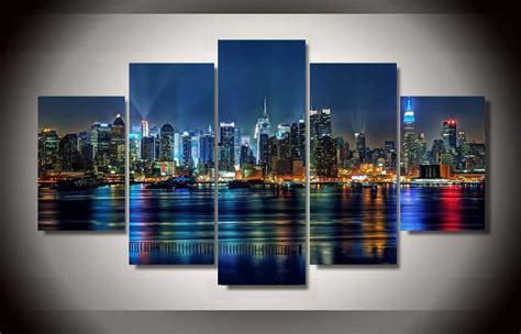 color house nyc 2018 5 panel framed printed new york city painting on