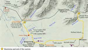 caves in oregon map section 4 oregon caves road guide highway 199