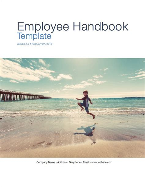 employee handbook cover page template employee handbook apple iwork pages numbers