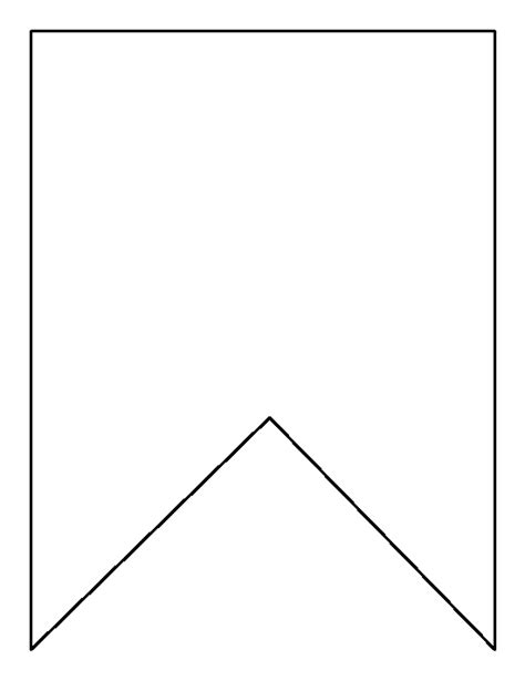printable bunting template square bunting pattern use the printable outline for