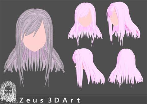 Anime 3d Print by Miniatures Anime Hair 3dprintable 3d Print Model