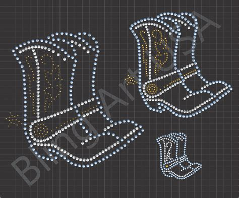 rhinestone templates cowboy boots rhinestone files template boots ariat
