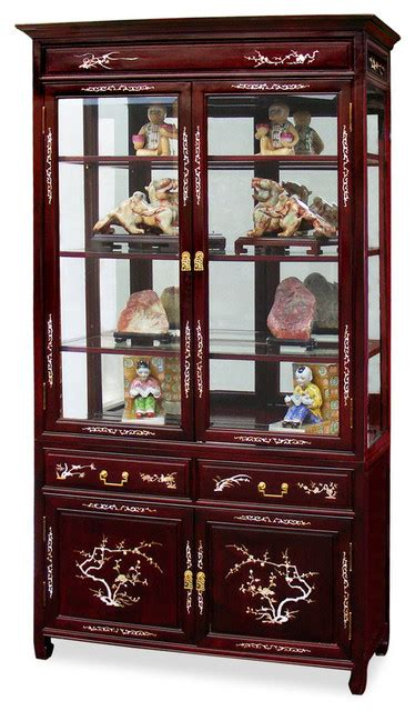 rosewood china cabinet for sale 40in rosewood mother of pearl inlaid curio cabinet asian