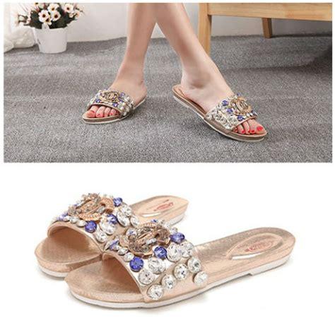 213 1hrm Flat Shoes Wanita jual shs6661 gold sandal fashion grosirimpor