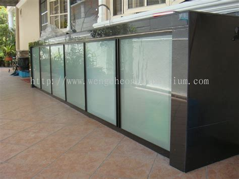 Selangor Kitchen Cabinet Door From Weng Cheong Aluminium Aluminum Glass Cabinet Doors