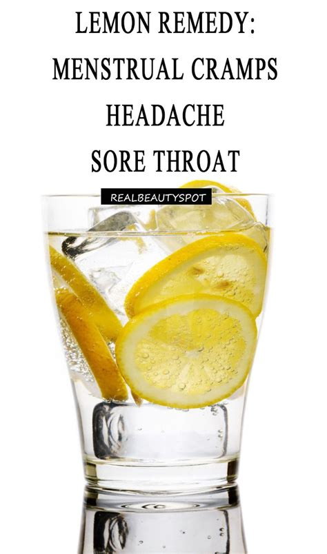home remedies using lemon menstrual crs sore throat