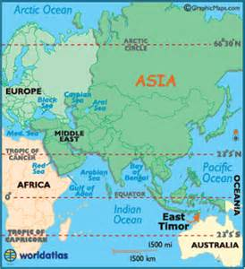 East Timor Location On World Map by East Timor Map Geography Of East Timor Map Of East