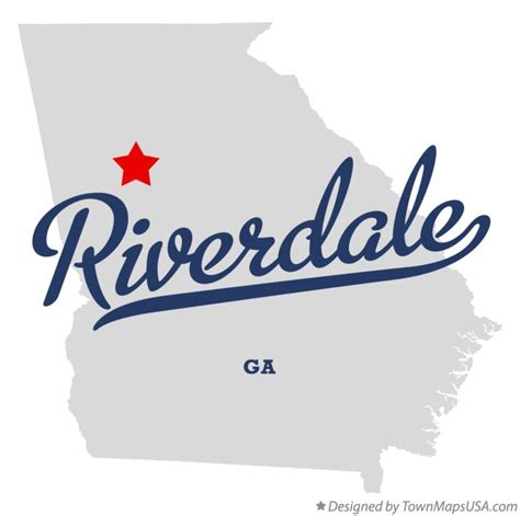 map of riverdale ga