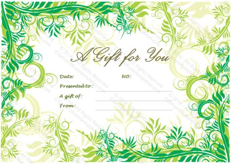 leaf festival gift certificate template