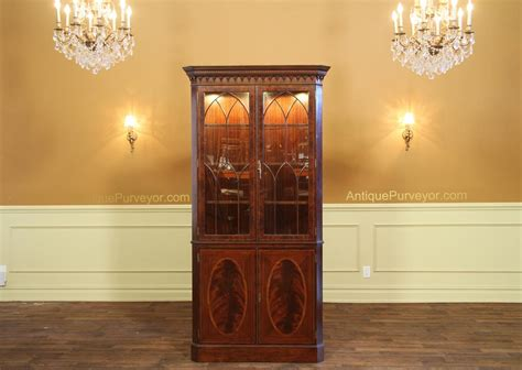 Antique Reproduction Hepplewhite Corner China Cabinet