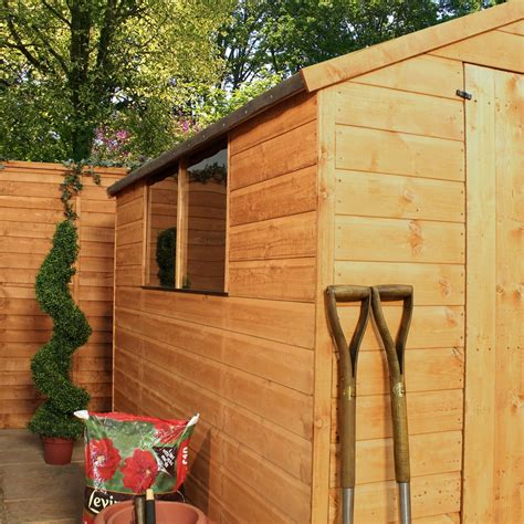 installed 8 x 6 tongue and groove apex shed with large