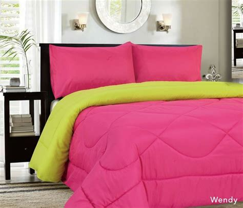 home design alternative color comforters with home decor alternative reversible comforter lime pink 27 99 http www