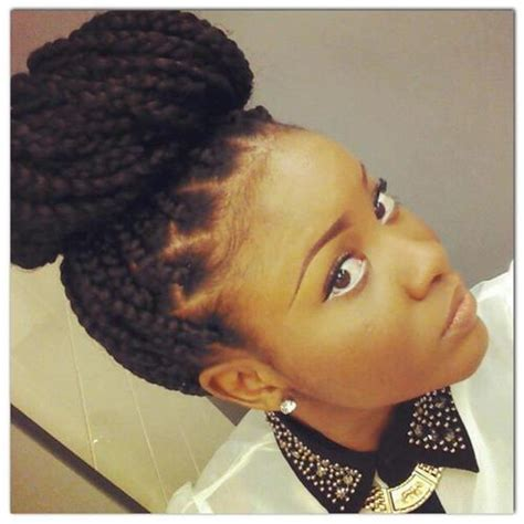 How To Make A Donut With Block Braids | 60 totally chic and colorful box braids hairstyles to wear