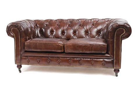 couch vintage chesterfield antique brown leather sofa