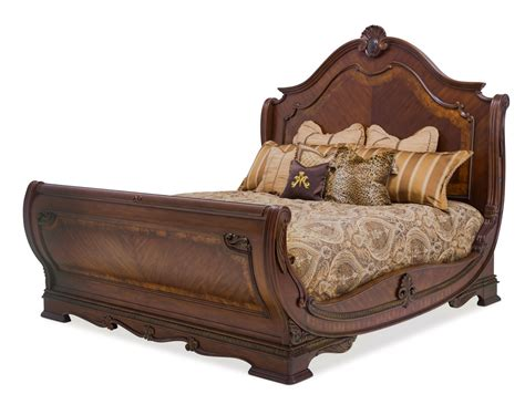 king sleigh bed set sleigh bed sets king 4 renaissance cherry king sleigh