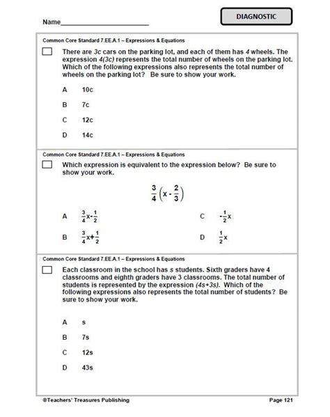 Common Math Worksheets 7th Grade by 7th Grade Tennessee Common Math Math Worksheets