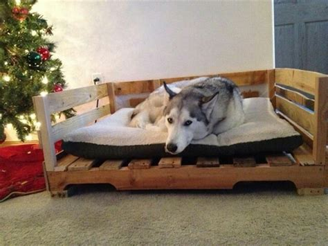 pallet dog bed dog bed out of recycled wooden pallets 101 pallets