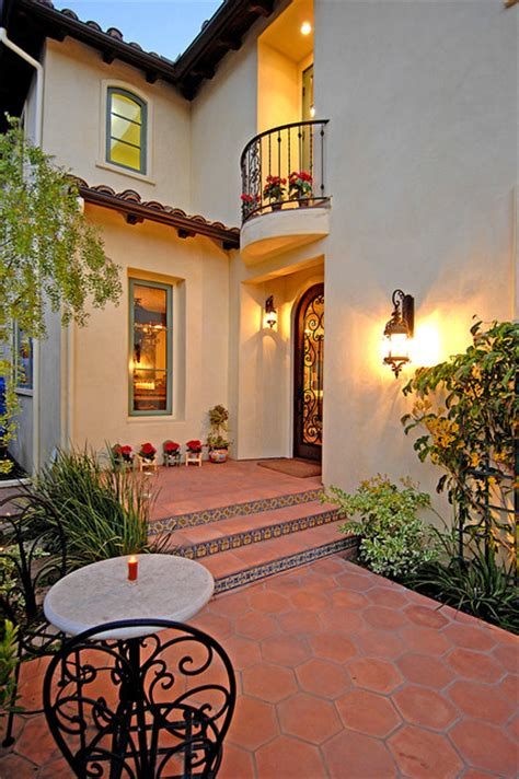 Wall Tile Ideas For Small Bathrooms Spanish Colonial Revival Mediterranean Entry Los