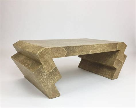 Zig Zag Coffee Table Vintage Goatskin Coffee Table With Zig Zag Legs For Sale At 1stdibs