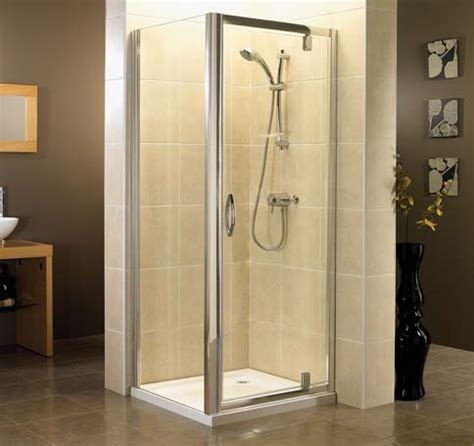 740mm Shower Door April Identiti2 Pivot Shower Door Polished Silver 690mm