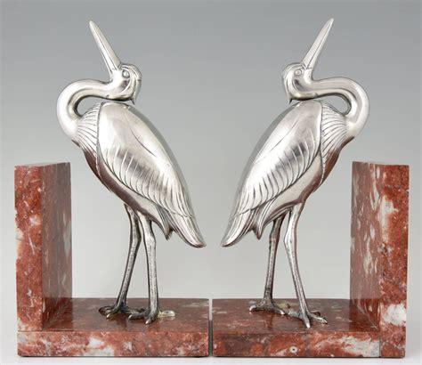 deco heron bird bookends by ir 233 n 233 e rochard