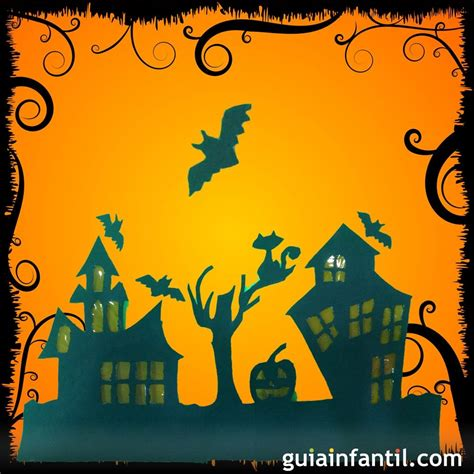 imagenes de halloween para hacer c 243 mo hacer una casa de halloween con cartulina