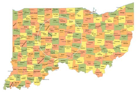 service ohio indiana and ohio county map my