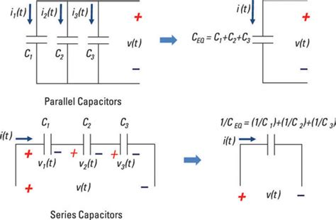 capacitor in series voltage calculator calculate the total capacitance for parallel and series capacitors dummies