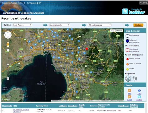 earthquake website earthquake shakes melbourne monday 13th january 2013