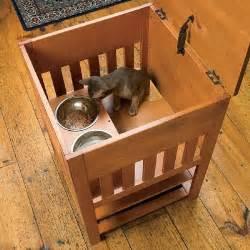 Litter Box Table Catnip Alley Studio Blog Dog Proof Cat Feeding Station