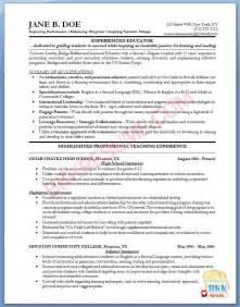 College Professor Resume Sles by Sle Resume For College Professor Resume Exle College Professor Sle Free Adjunct Sales