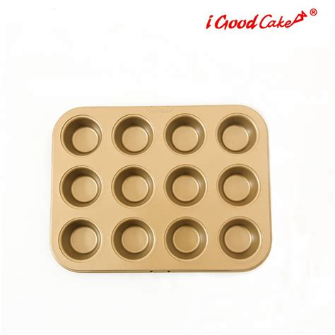 Loyang Mini Cup Teflon nonstick 12 cup mini muffin pan nonstick pans cake pans and moulds igoodcake