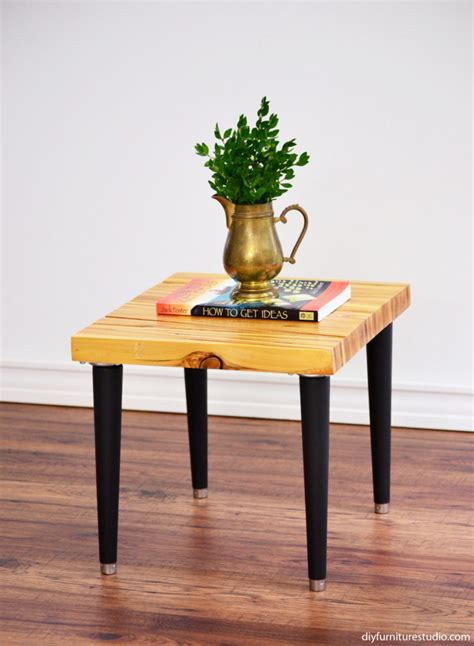 diy modern table legs wood shim side table with tapered mid century modern legs