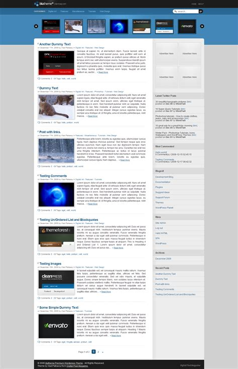 blutheme wordpress theme wp archive wp archive