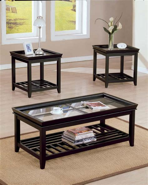Ava 3pc Coffee End Table Set Coffee Table Sets Set Coffee Table