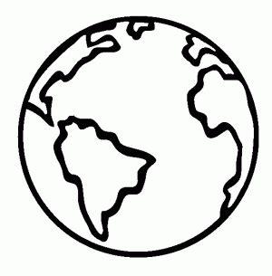 small earth coloring page planeta tierra para colorear pintar e imprimir