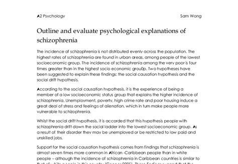 Schizophrenia Essay by Psychology Essays On Schizophrenia