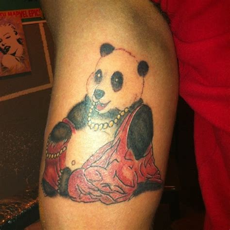 tattoo of panda bear panda tattoos on pinterest panda bear tattoos pandas