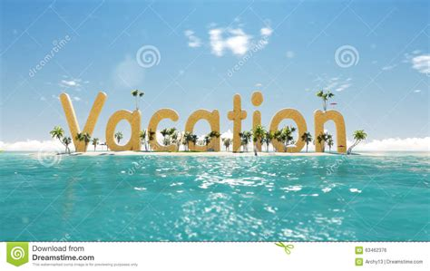 buy a boat or vacation home 3d word vacation on tropical paradise island with palm