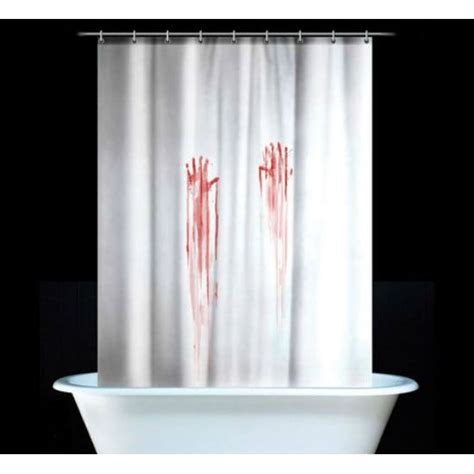 bloody hands shower curtain for the home bloody shower curtain shut up and take