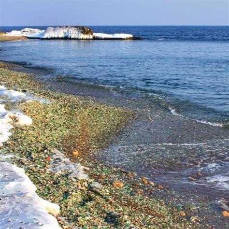 glass beach russia russia s sea glass beach sparkles in the sun