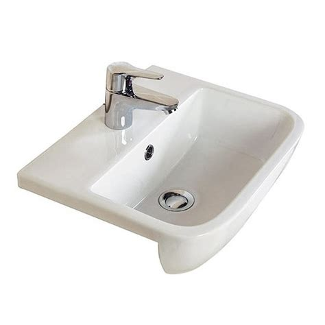 rak series 600 52cm semi recessed basin 1th s60052sr1 at