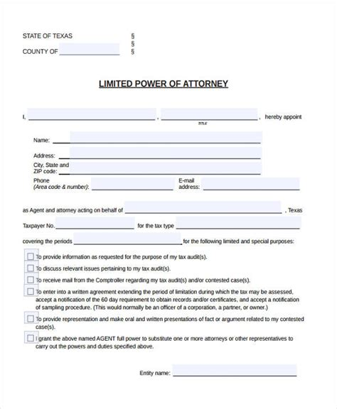 limited power of attorney template 24 printable power of attorney forms
