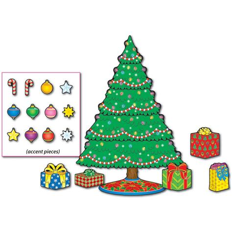 christmas tree mini bulletin board set cd 110055